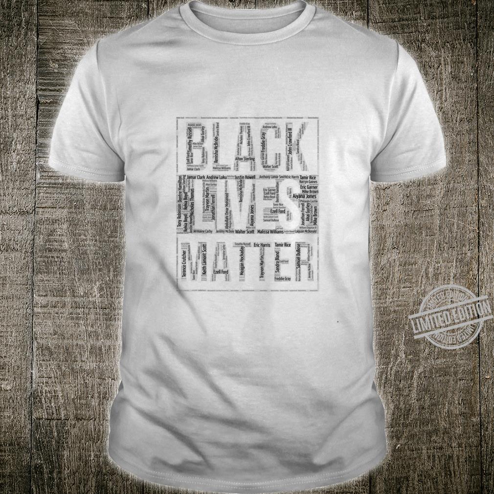 Black Lives Matter With Names Shirt