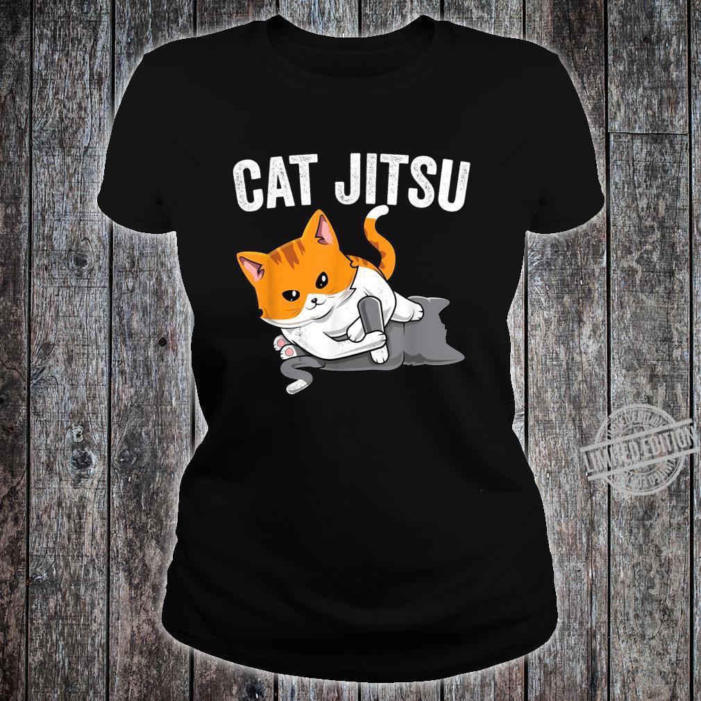 Brazilian Jiu jitsu Kawaii cat BJJ & MMA grappler Shirt ladies tee