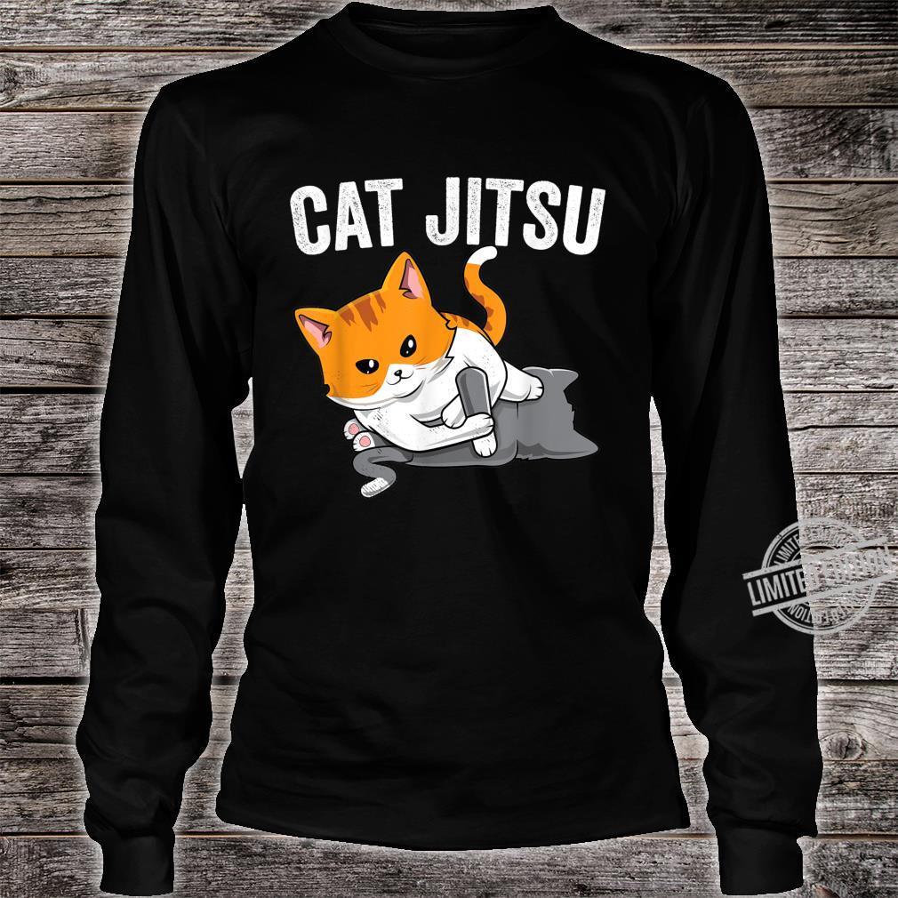 Brazilian Jiu jitsu Kawaii cat BJJ & MMA grappler Shirt long sleeved