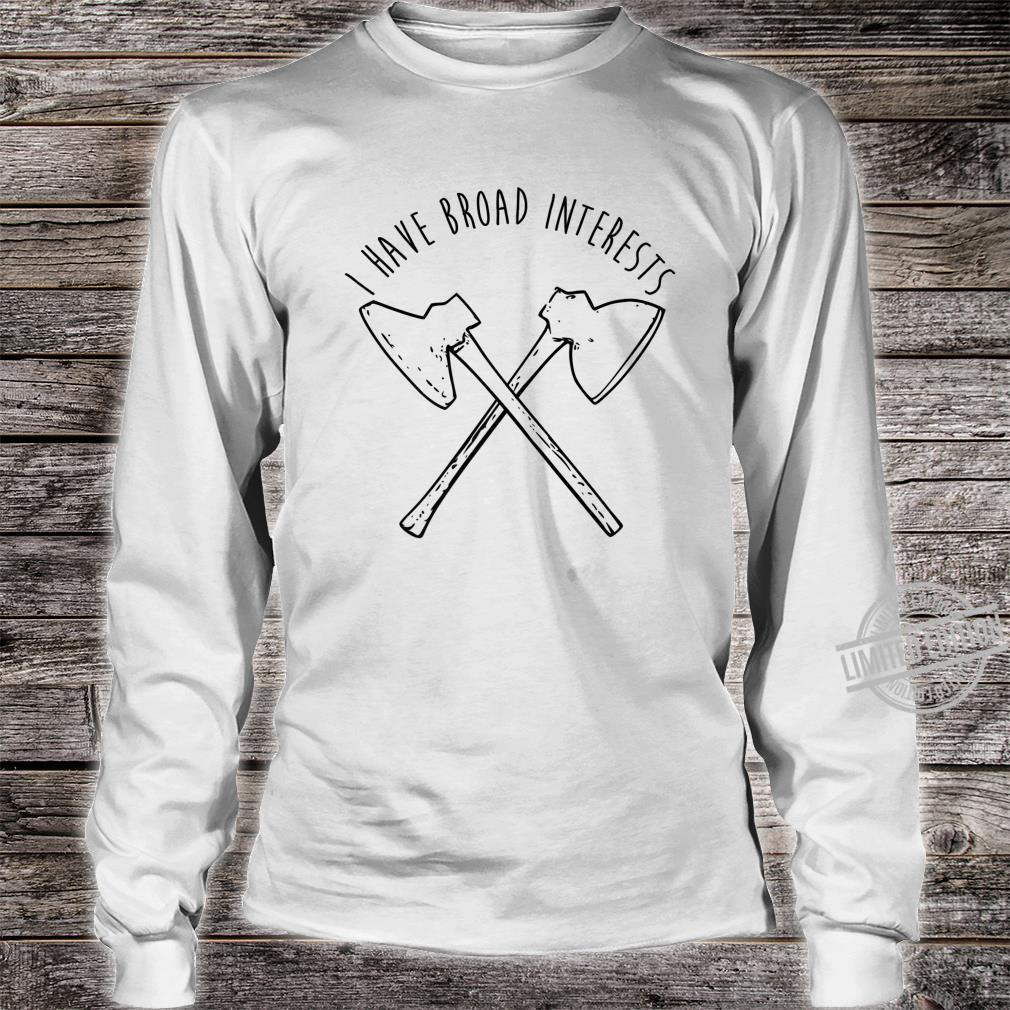 Broad Axe Log Cabin Hewing Tools Shirt long sleeved