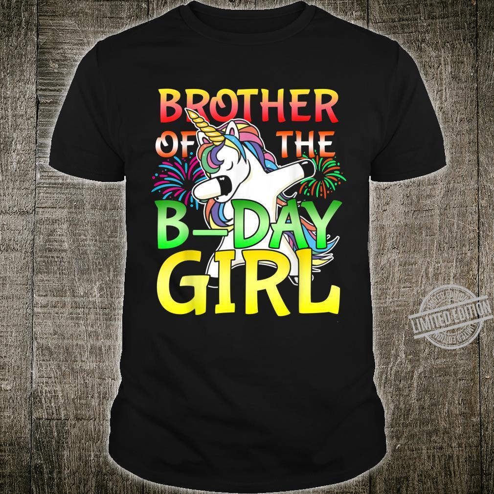 Brother of The Bday Girl Dabbing Unicorn Birthday Party Shirt