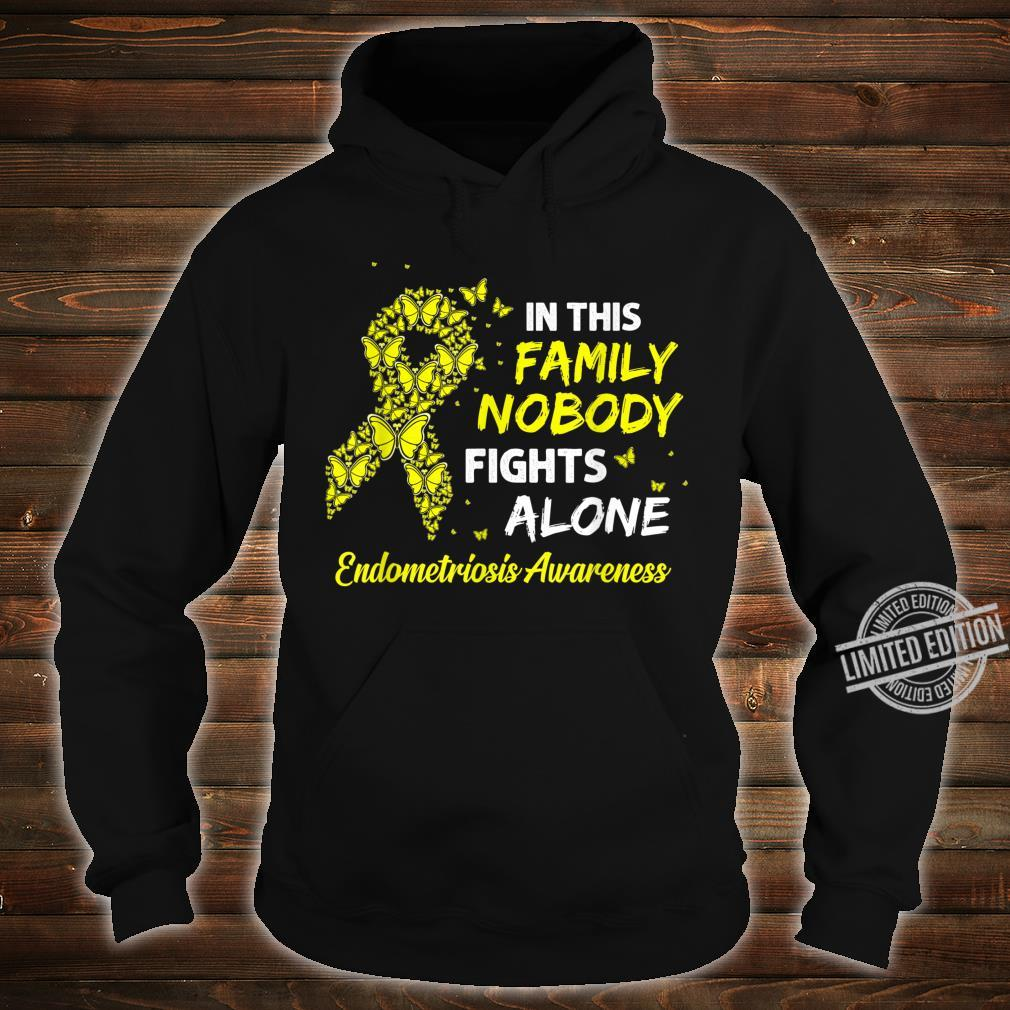 Butterfly Ribbon I Wear Yellow For Endometriosis Awareness Shirt hoodie