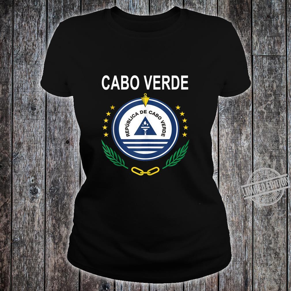 Cabo Verde National Emblem Design Shirt ladies tee