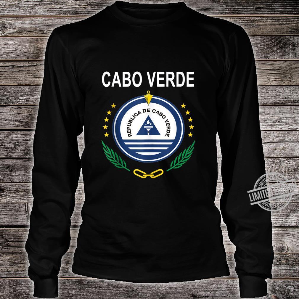 Cabo Verde National Emblem Design Shirt long sleeved