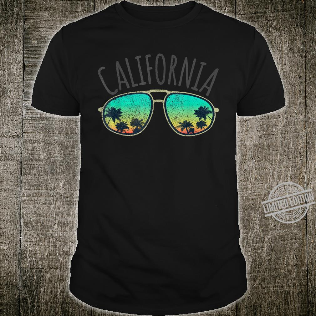 California Retro Surf Vintage Surfer Surfing Distressed Shirt