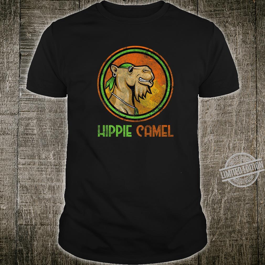Camel Hippie Retro Distressed Vintage Bandanna Hippie Camel Shirt