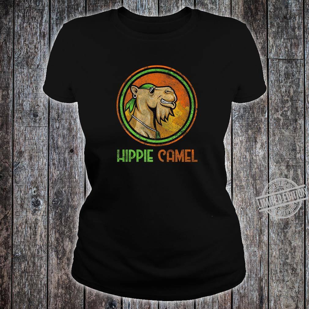 Camel Hippie Retro Distressed Vintage Bandanna Hippie Camel Shirt ladies tee