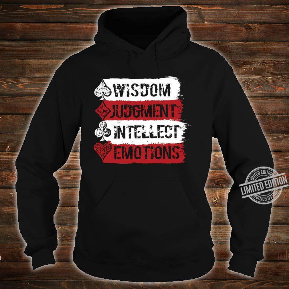 Cardistry, Wisdom Judgment Intellect Emotion Magician Shirt hoodie