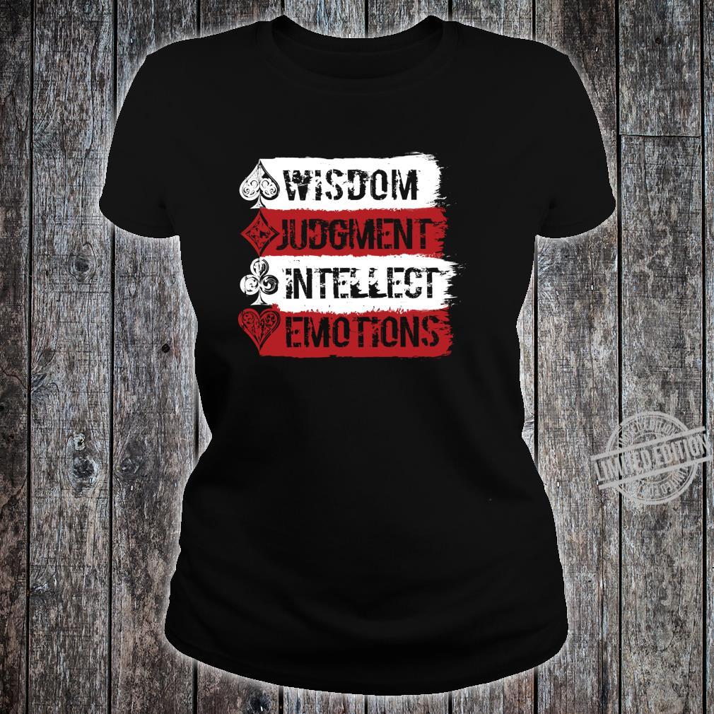 Cardistry, Wisdom Judgment Intellect Emotion Magician Shirt ladies tee