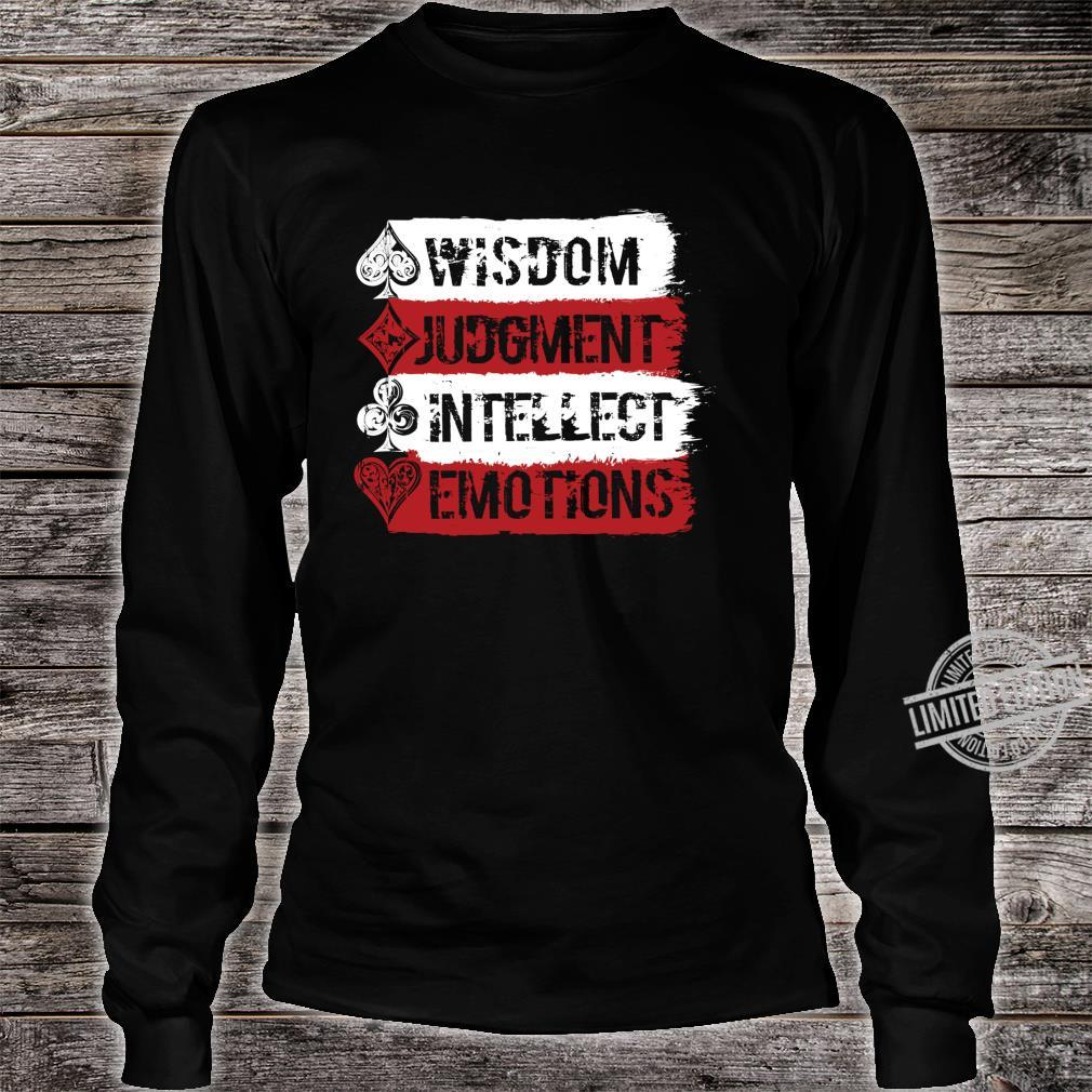 Cardistry, Wisdom Judgment Intellect Emotion Magician Shirt long sleeved