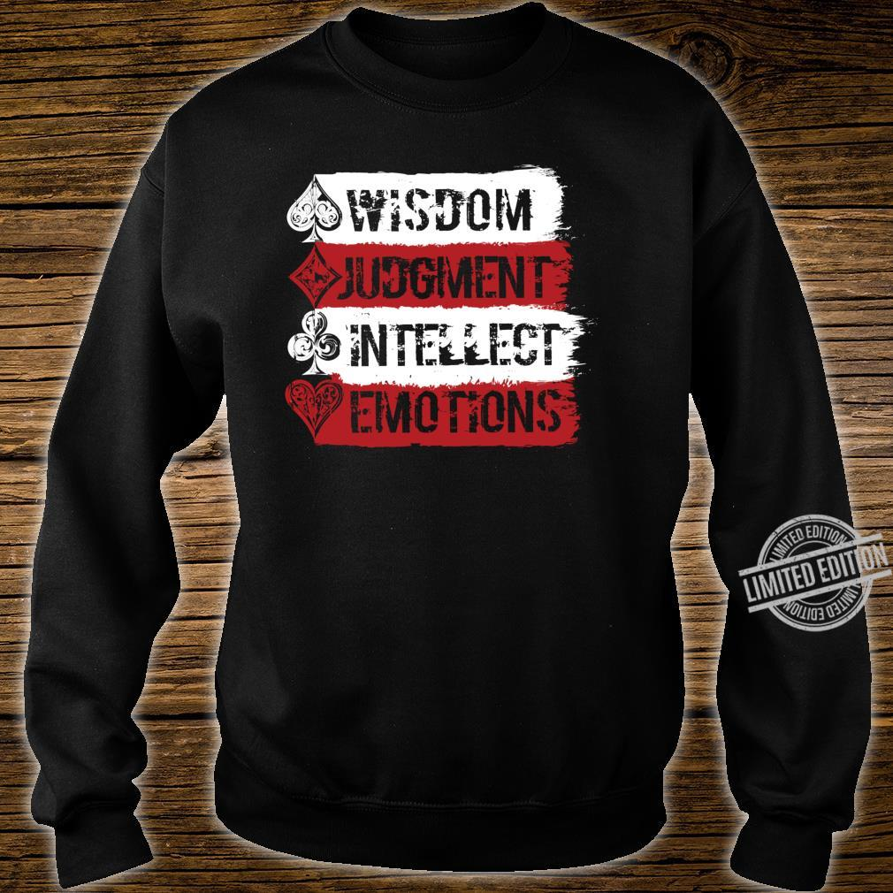 Cardistry, Wisdom Judgment Intellect Emotion Magician Shirt sweater