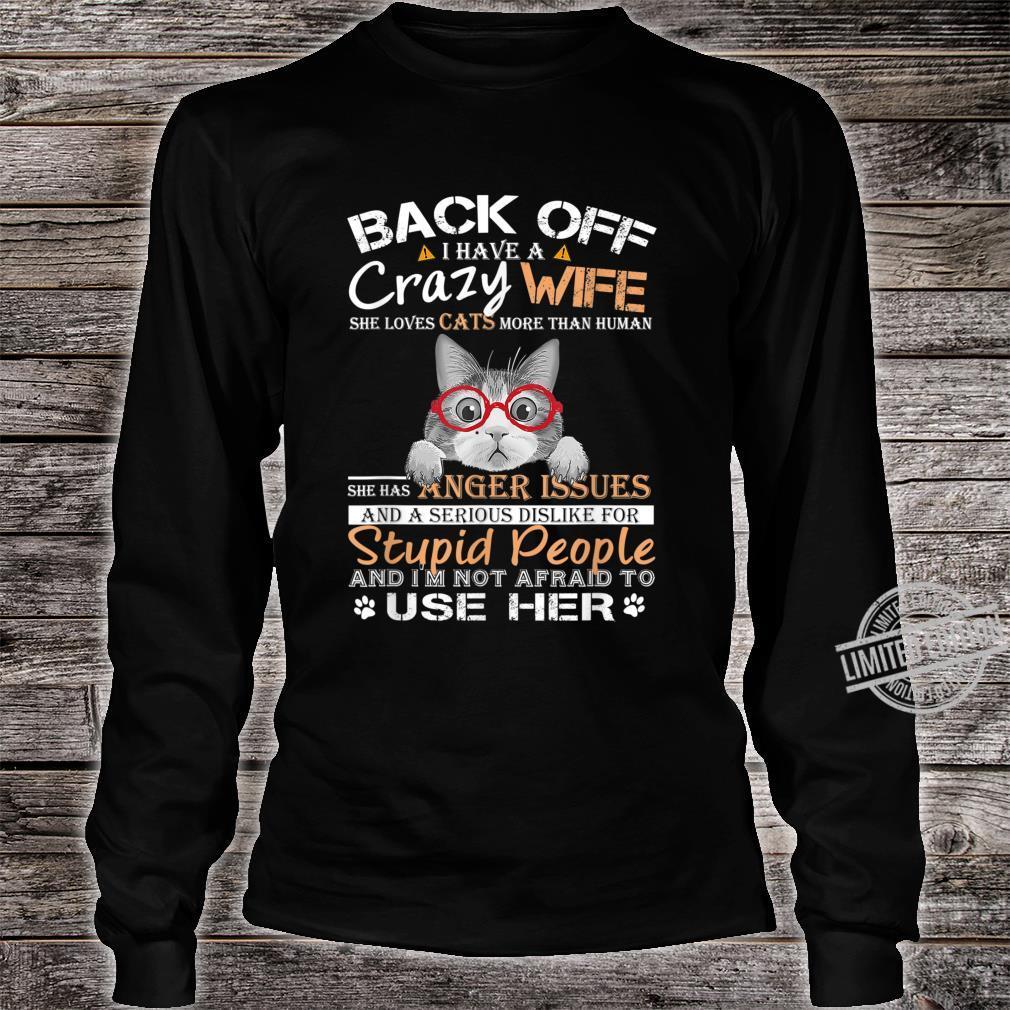 Cat Crazy Wife Family Costume Lovely Shirt long sleeved