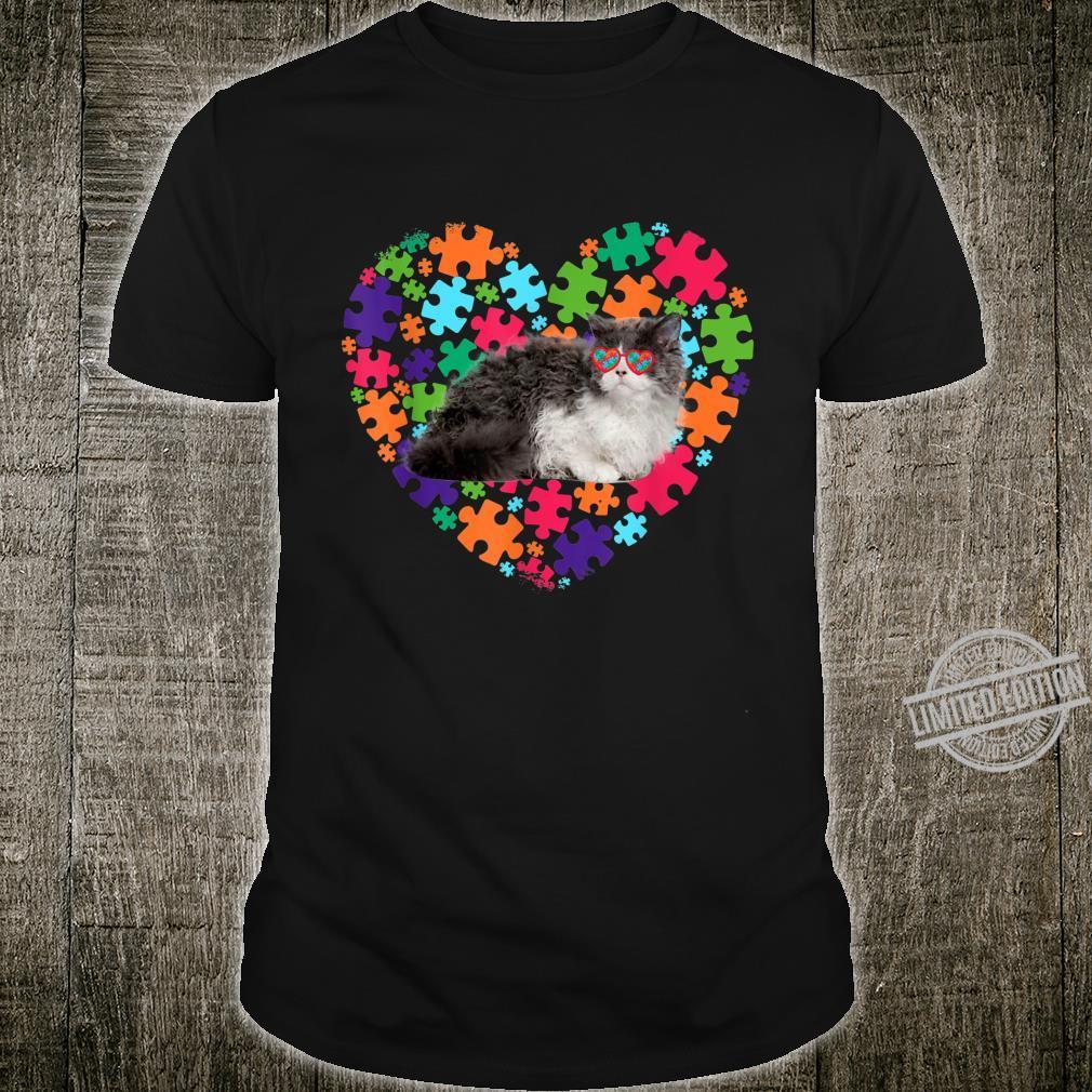 Cat Dad Cat Mom Autism Awareness Selkirk Rex Shirt