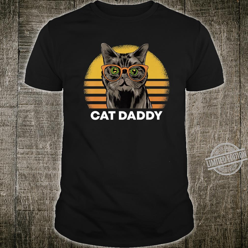 Cat Daddy Vintage Style Cats Retro Distressed Shirt