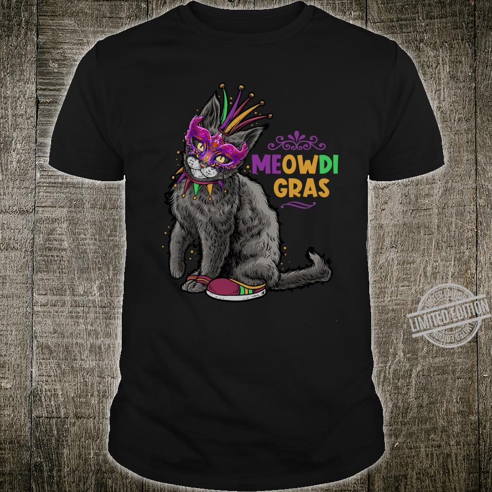 Cat Mardi Gras Meowdi Gras Kitten Boys Girls Shirt