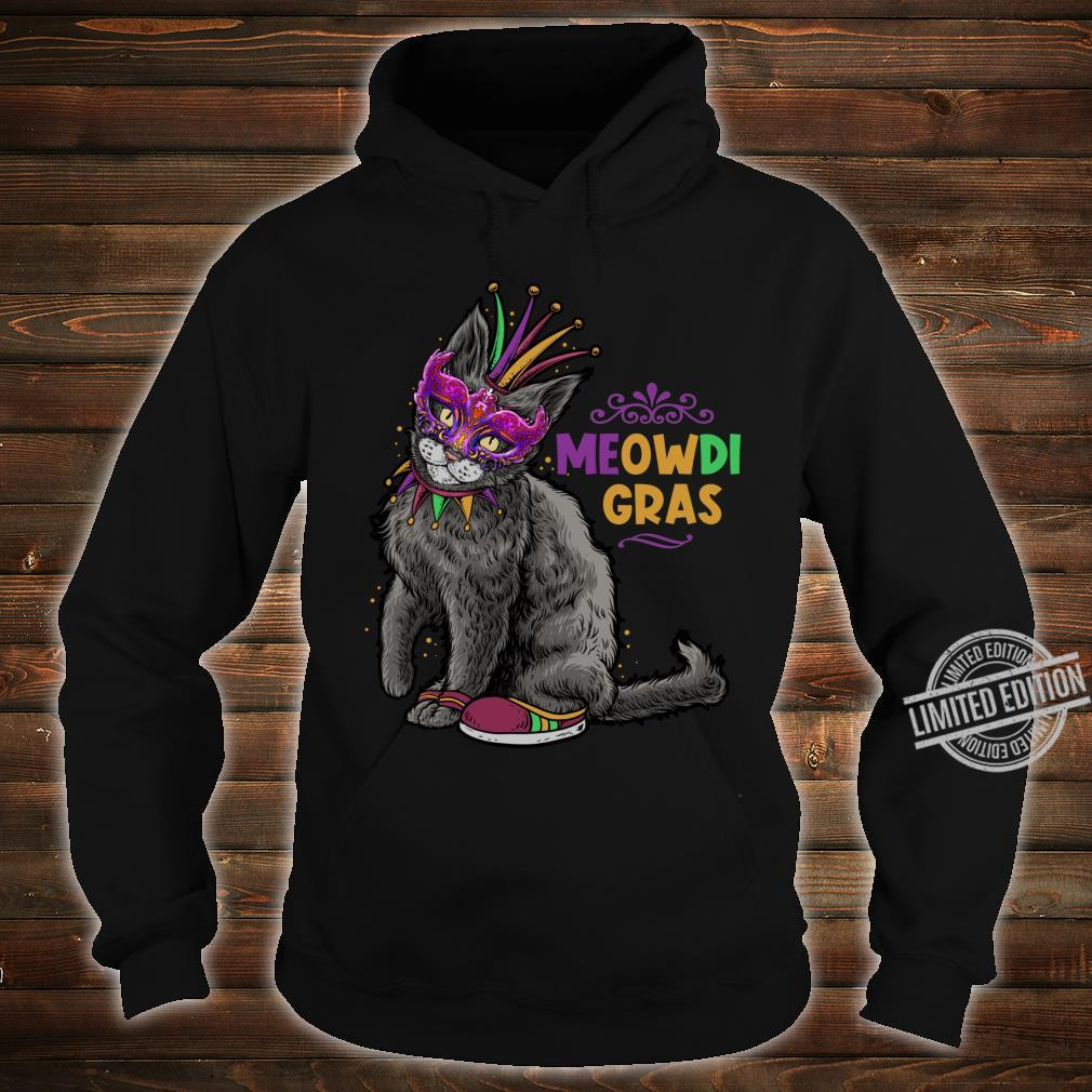 Cat Mardi Gras Meowdi Gras Kitten Boys Girls Shirt hoodie