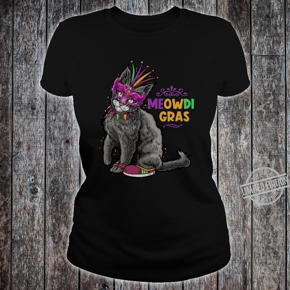 Cat Mardi Gras Meowdi Gras Kitten Boys Girls Shirt ladies tee