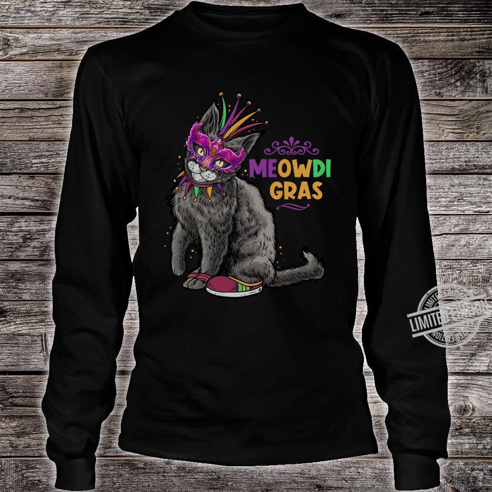 Cat Mardi Gras Meowdi Gras Kitten Boys Girls Shirt long sleeved