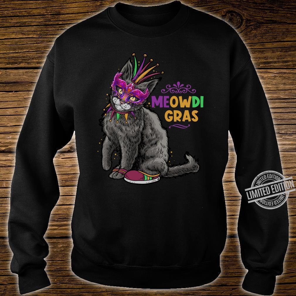 Cat Mardi Gras Meowdi Gras Kitten Boys Girls Shirt sweater