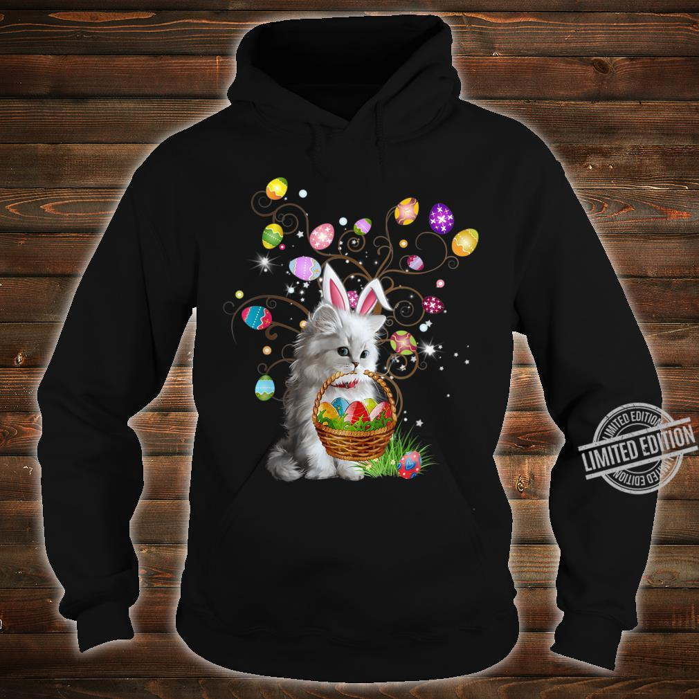 Cat Pet Hunting Egg Full Color Easter Day Shirt hoodie