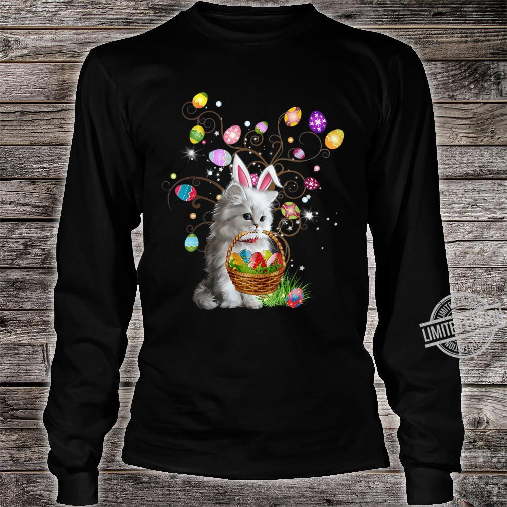 Cat Pet Hunting Egg Full Color Easter Day Shirt long sleeved