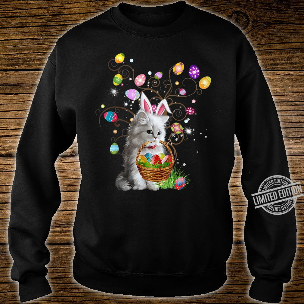 Cat Pet Hunting Egg Full Color Easter Day Shirt sweater