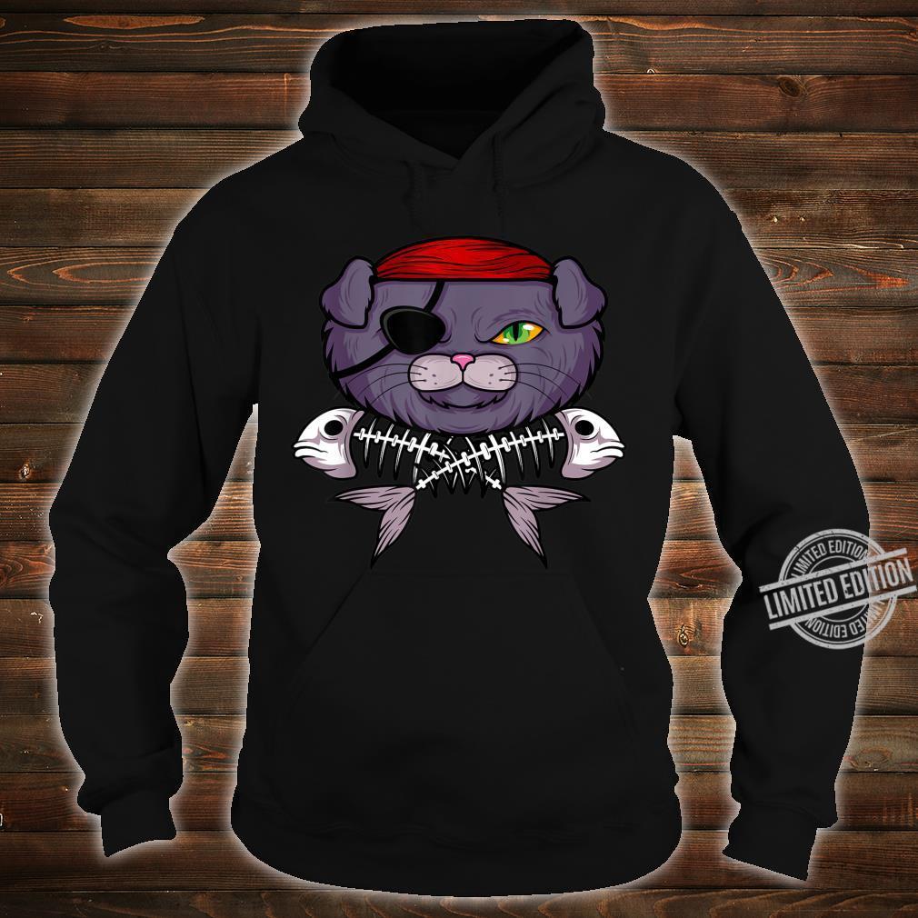 Cat Pirate Jolly Roger Flag Skull And Crossbones Captain Shirt hoodie
