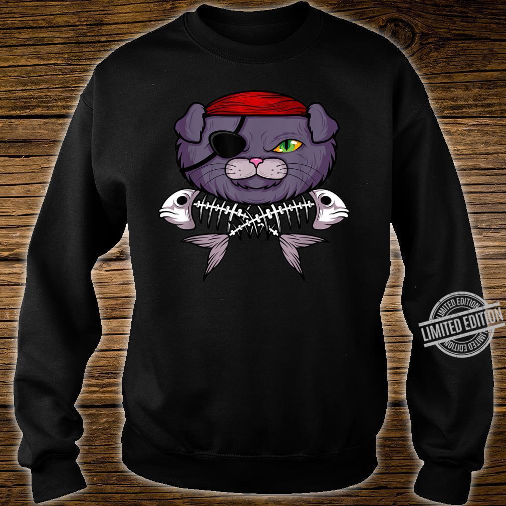 Cat Pirate Jolly Roger Flag Skull And Crossbones Captain Shirt sweater