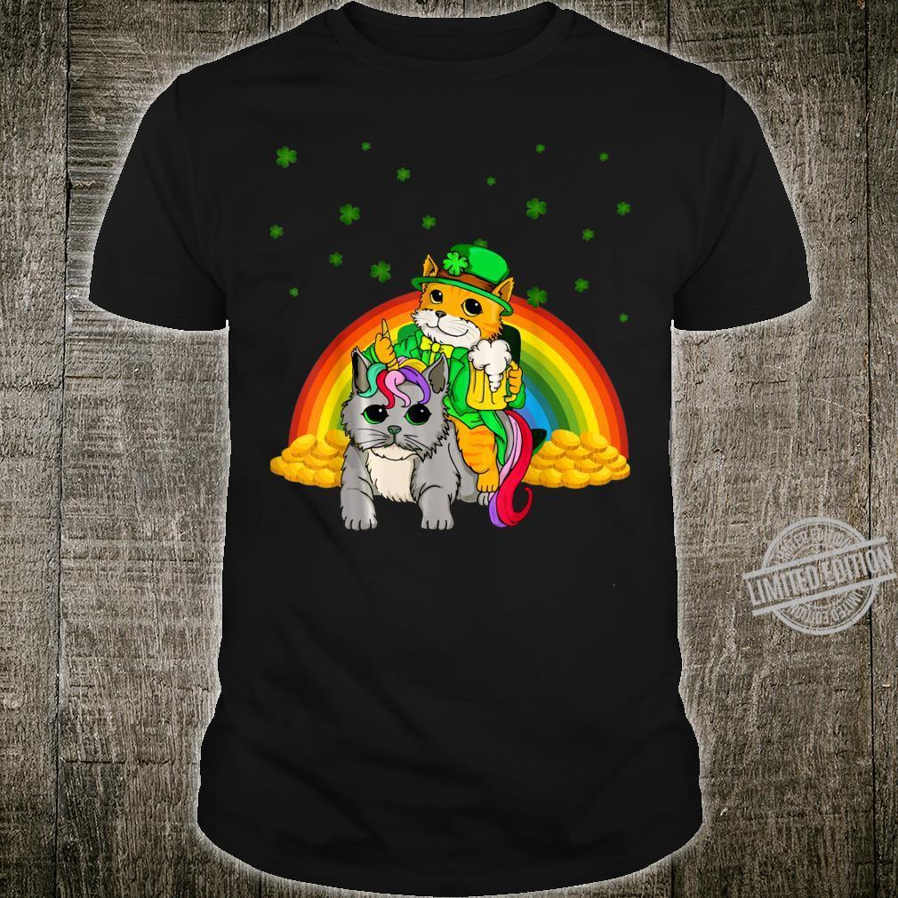Cat Unicorn Leprechaun St Patricks Day Shirt