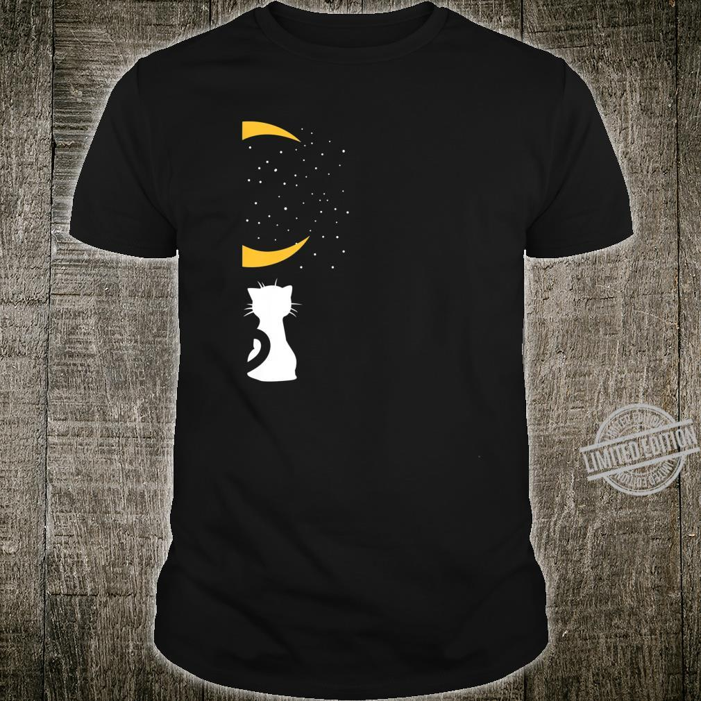 Cats, Moon And Heart Matching Saint Valentine's Day Shirt
