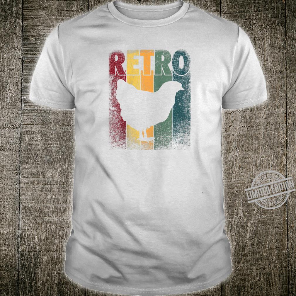 Chicken Bird Hen Vintage Retro Style Classic Shirt