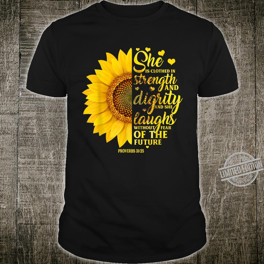 Christian Bible Verse Sunflower Scripture Religious Her Shirt