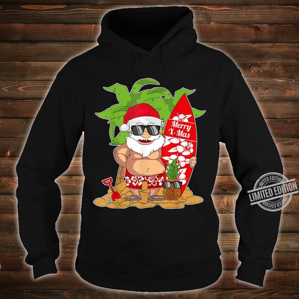 Christmas In July I Santa Clause Surfboard I Christmas Shirt hoodie