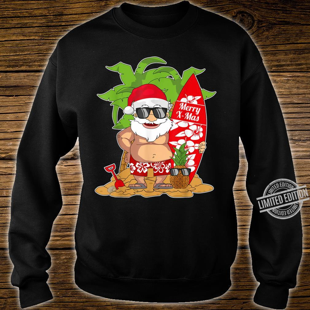 Christmas In July I Santa Clause Surfboard I Christmas Shirt sweater