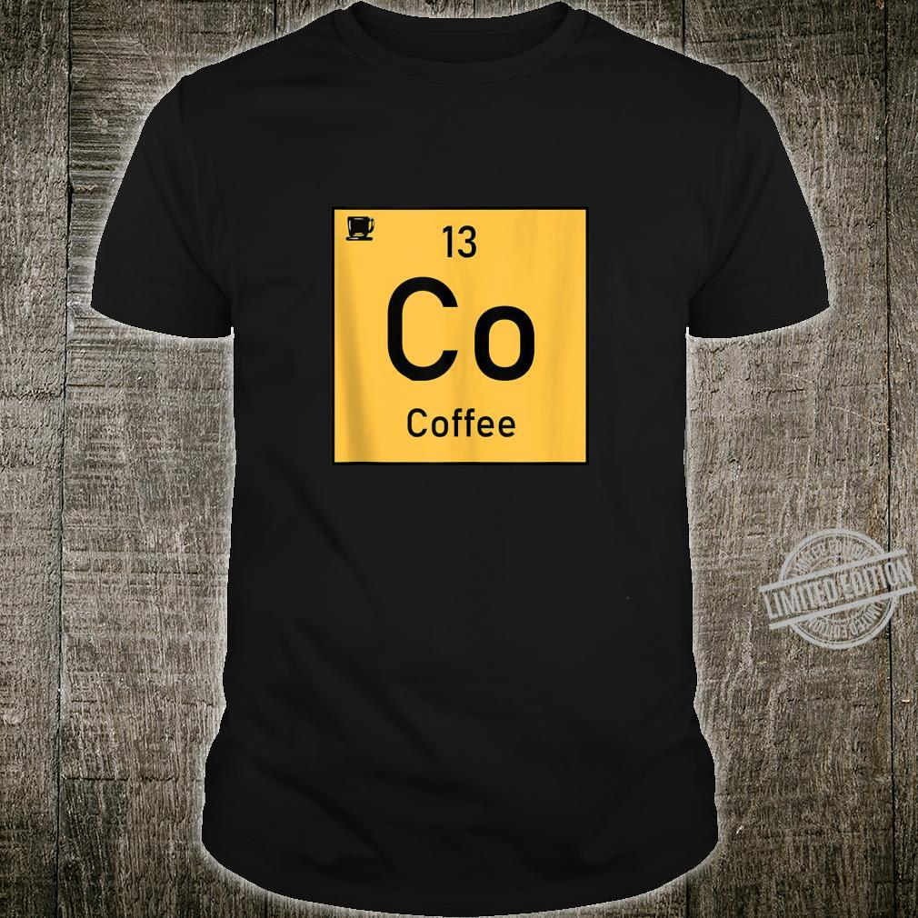 Coffee Co 13 Cup Periodic Element Chemistry Shirt