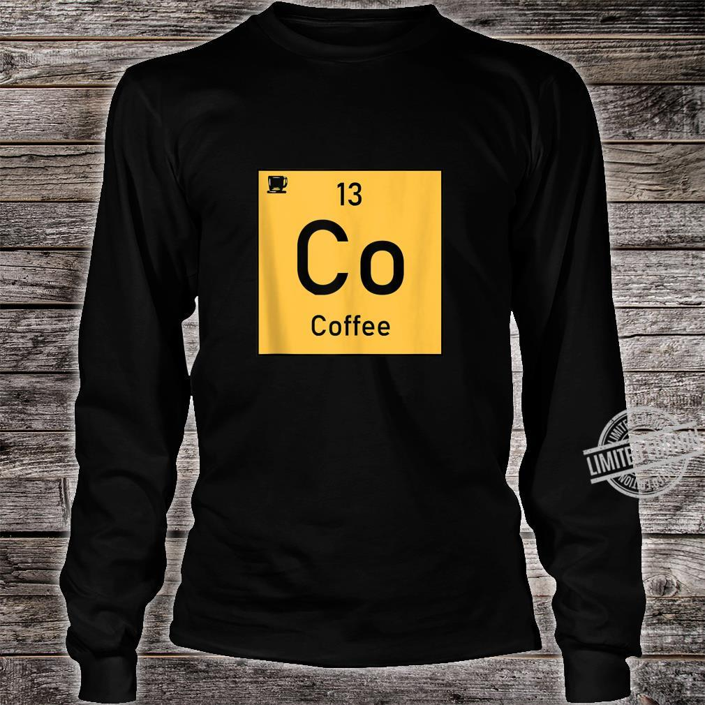 Coffee Co 13 Cup Periodic Element Chemistry Shirt long sleeved