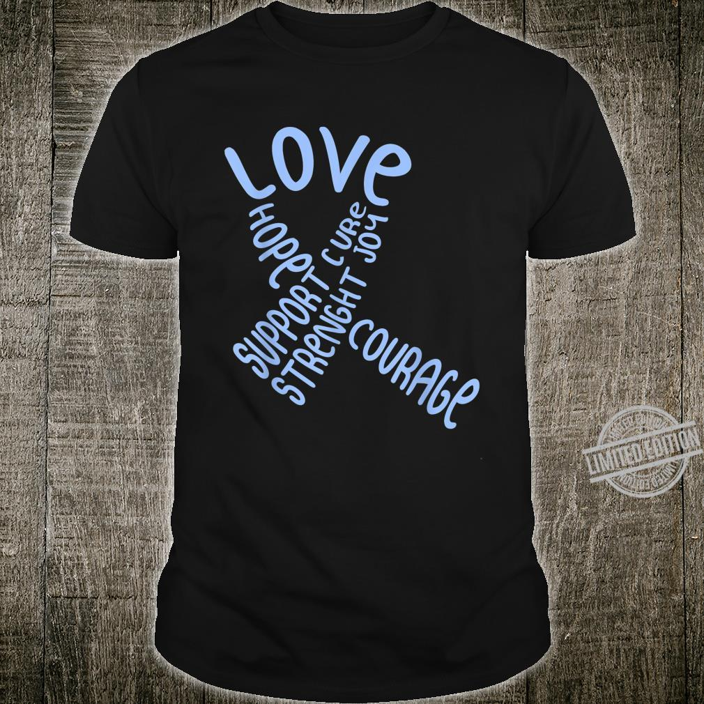 Colon Cancer Awareness Colonoscopy Blue Ribbon Love Support Shirt
