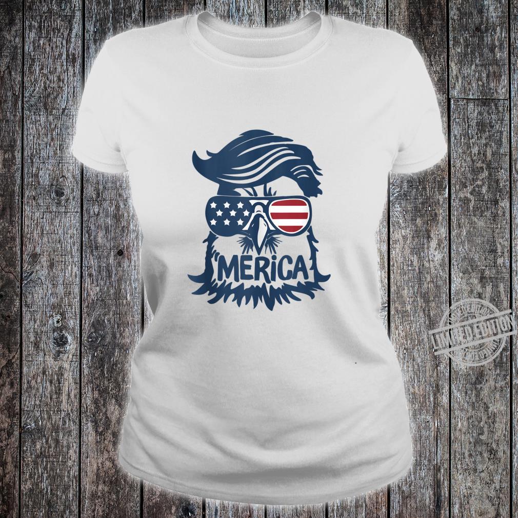 Cool American Flag Independence Eagle Shirt ladies tee