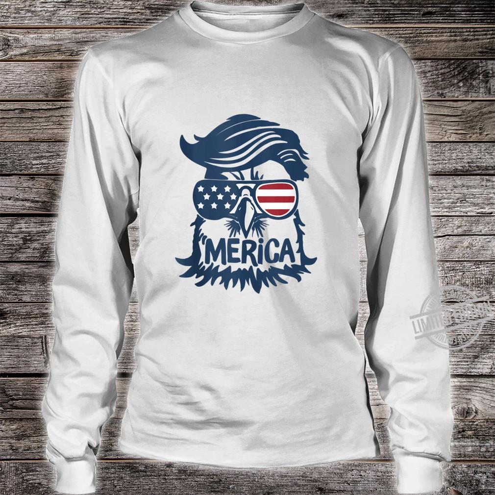 Cool American Flag Independence Eagle Shirt long sleeved