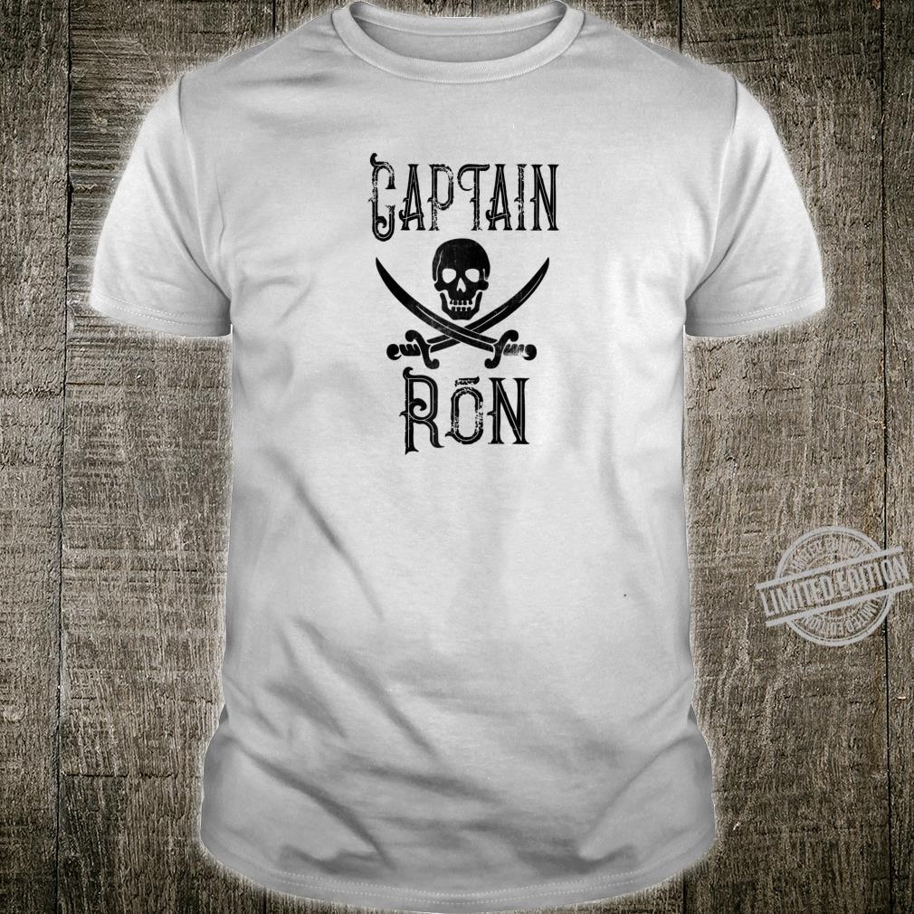 Cool Captain Ron Retro Personalized Pirate Boating Shirt