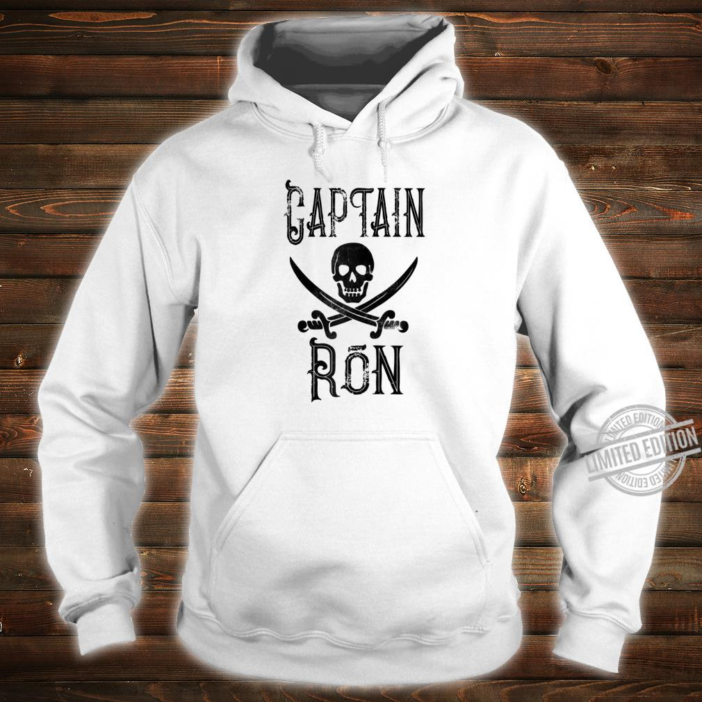 Cool Captain Ron Retro Personalized Pirate Boating Shirt hoodie