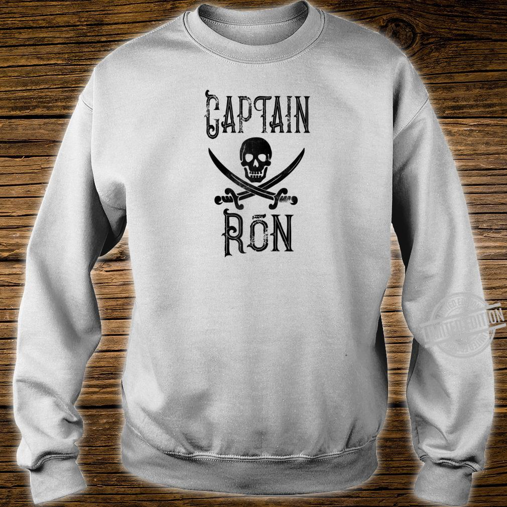 Cool Captain Ron Retro Personalized Pirate Boating Shirt sweater