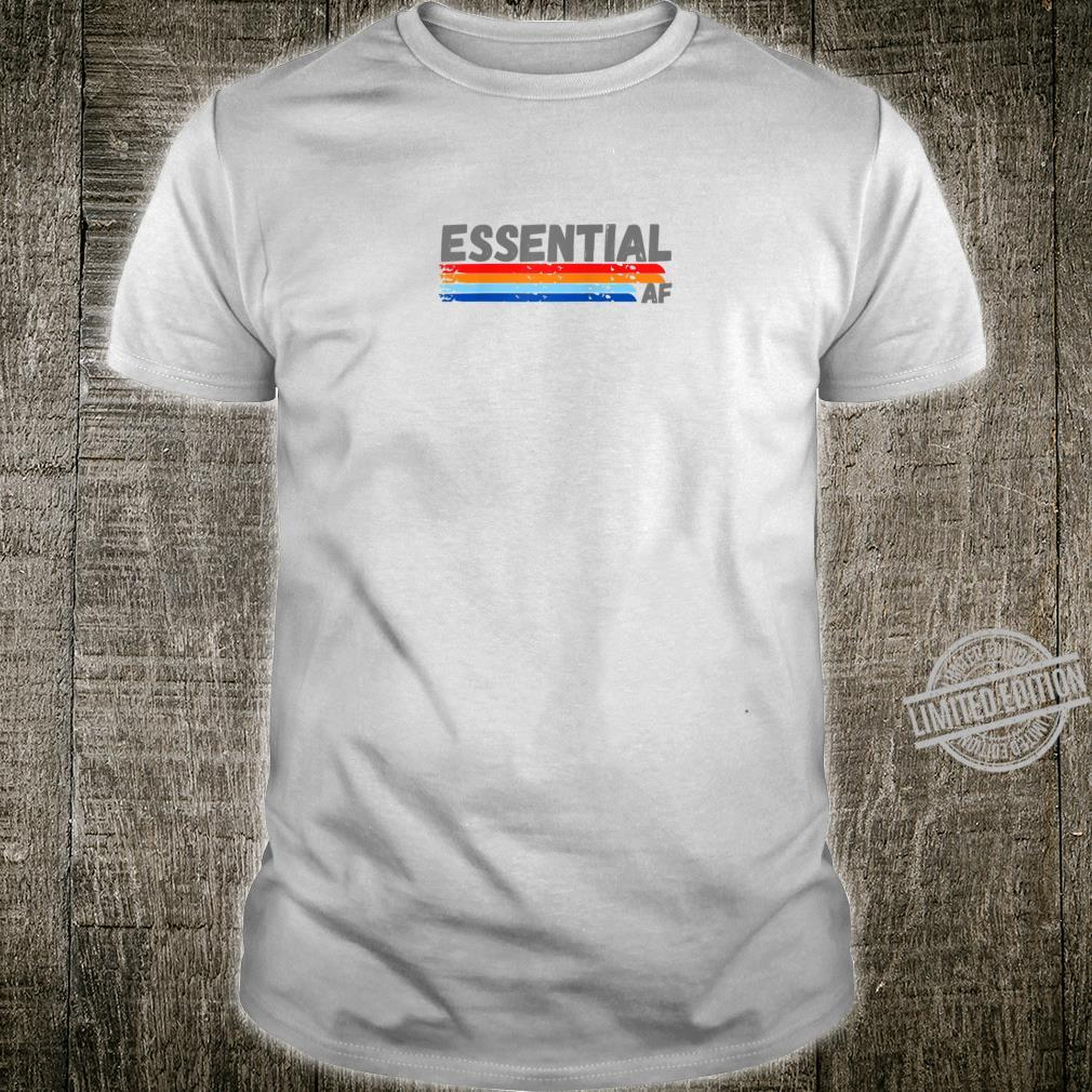 Cool Essential Healthcare Worker Retro Design for Shirt