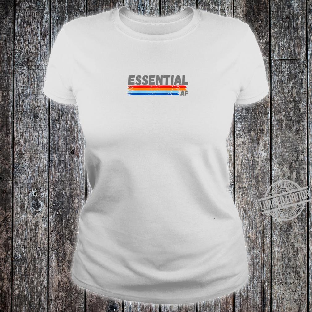 Cool Essential Healthcare Worker Retro Design for Shirt ladies tee