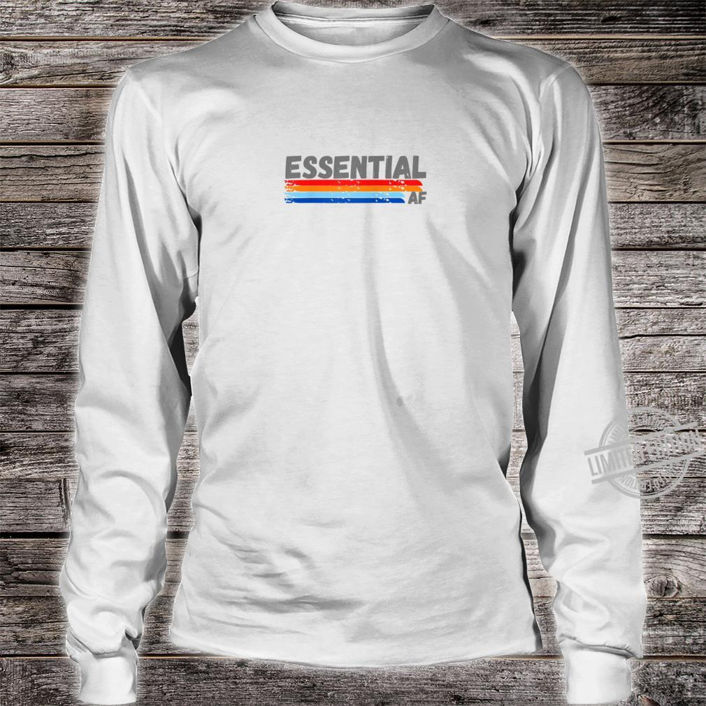 Cool Essential Healthcare Worker Retro Design for Shirt long sleeved