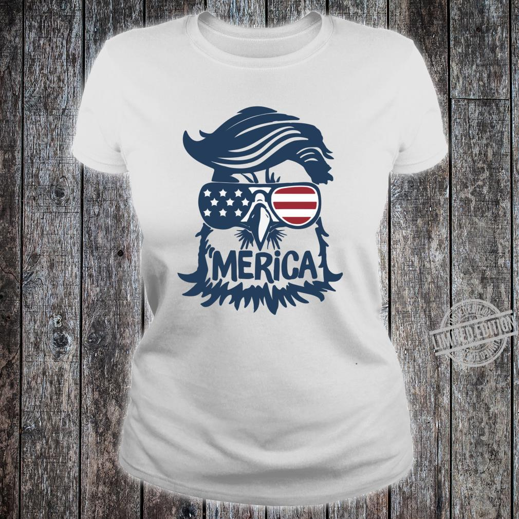 Coole amerikanische Flagge Independence Eagle Shirt ladies tee