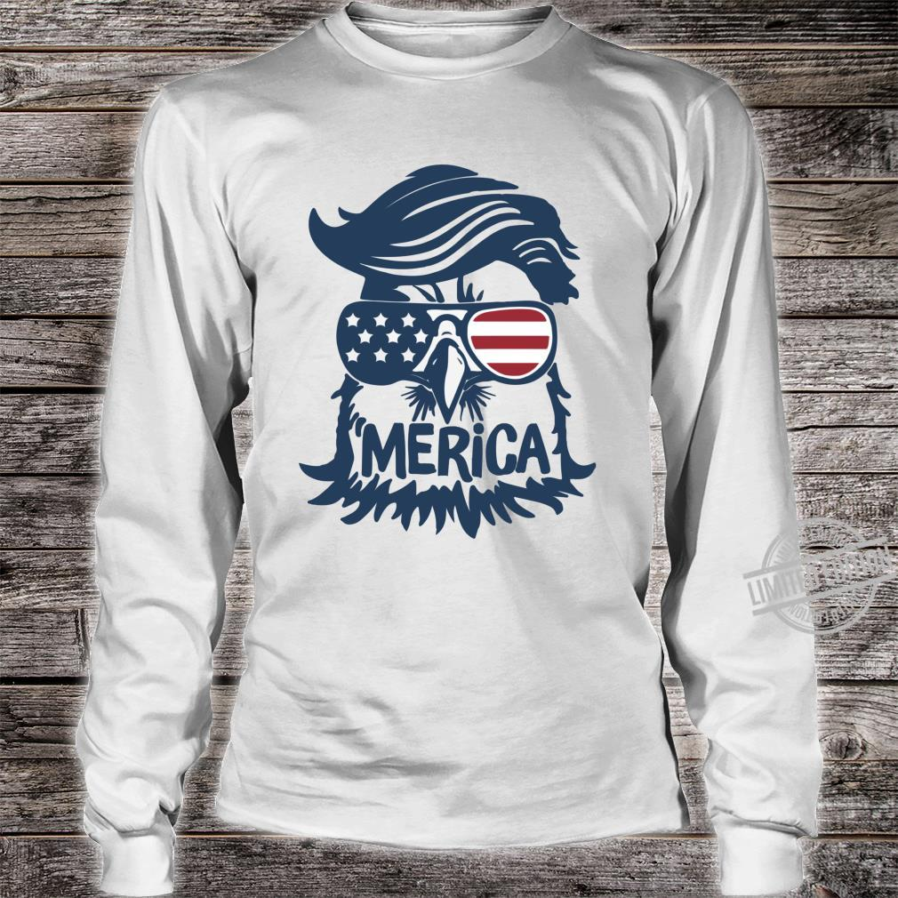 Coole amerikanische Flagge Independence Eagle Shirt long sleeved