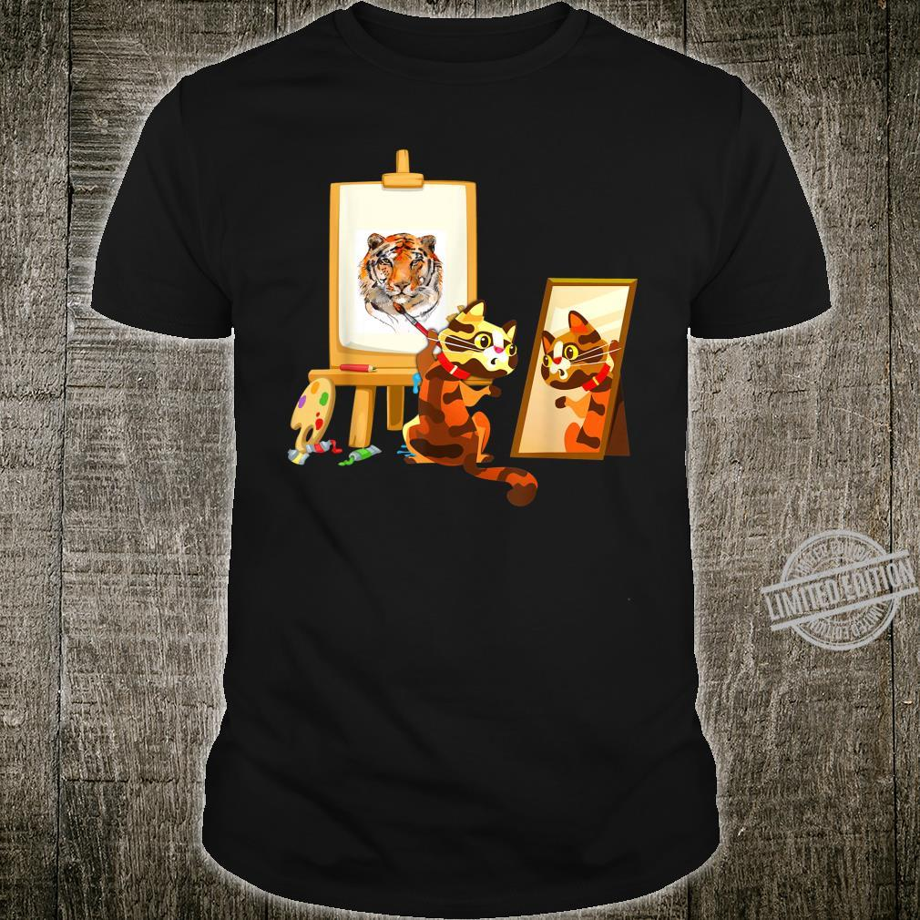 Cute Artistic Cat Art Teachers Kitty Autism Awareness Shirt