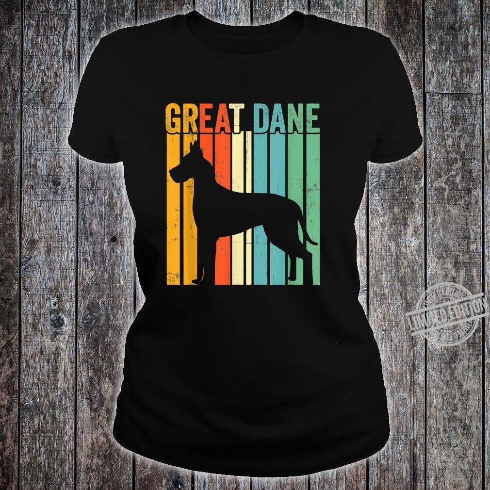 Cute Dog Trainer Great Dane Dad Rescue Dogs Mom Shirt ladies tee