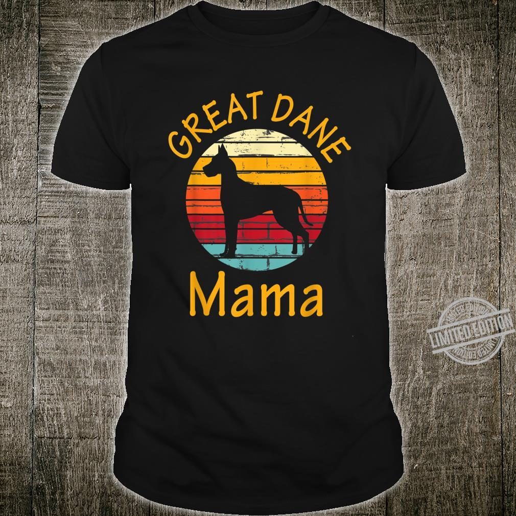 Cute Dog Trainer Great Dane Mama Rescue Dogs Mom Shirt